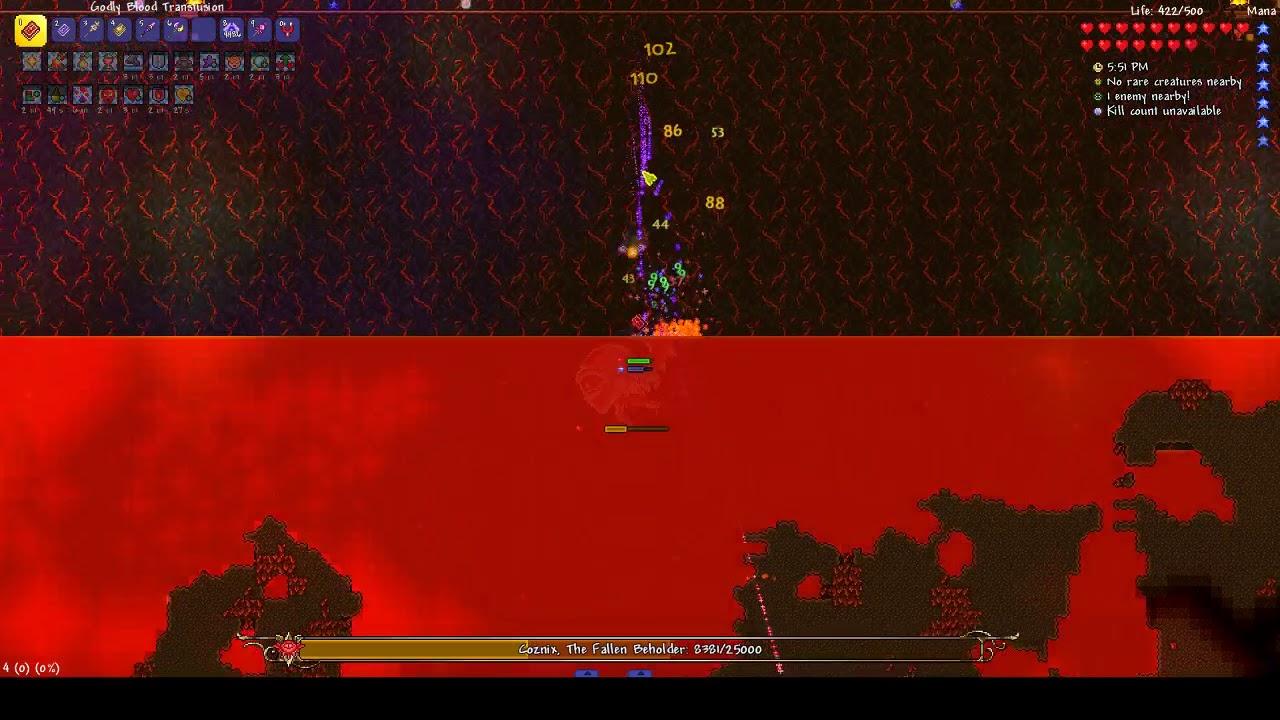 Thorium Mod (Healer Class) - Coznix, The Fallen Beholder Boss Fight