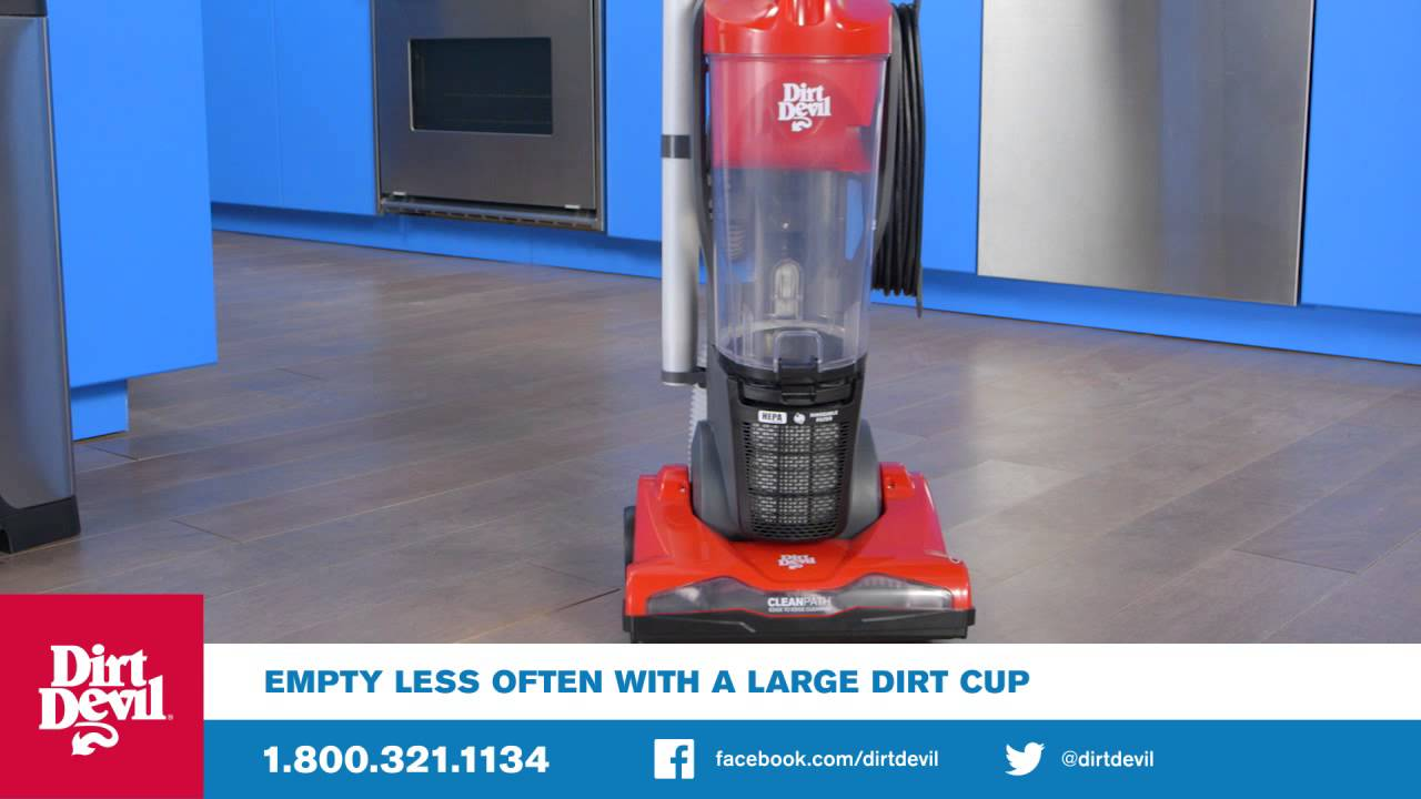 The Dirt Devil Power Duo Carpet And Hard Floor Cyclonic