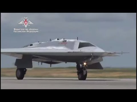 Russia Flies Her New Combat Drone Okhotnik-B (the Hunter). No Comment