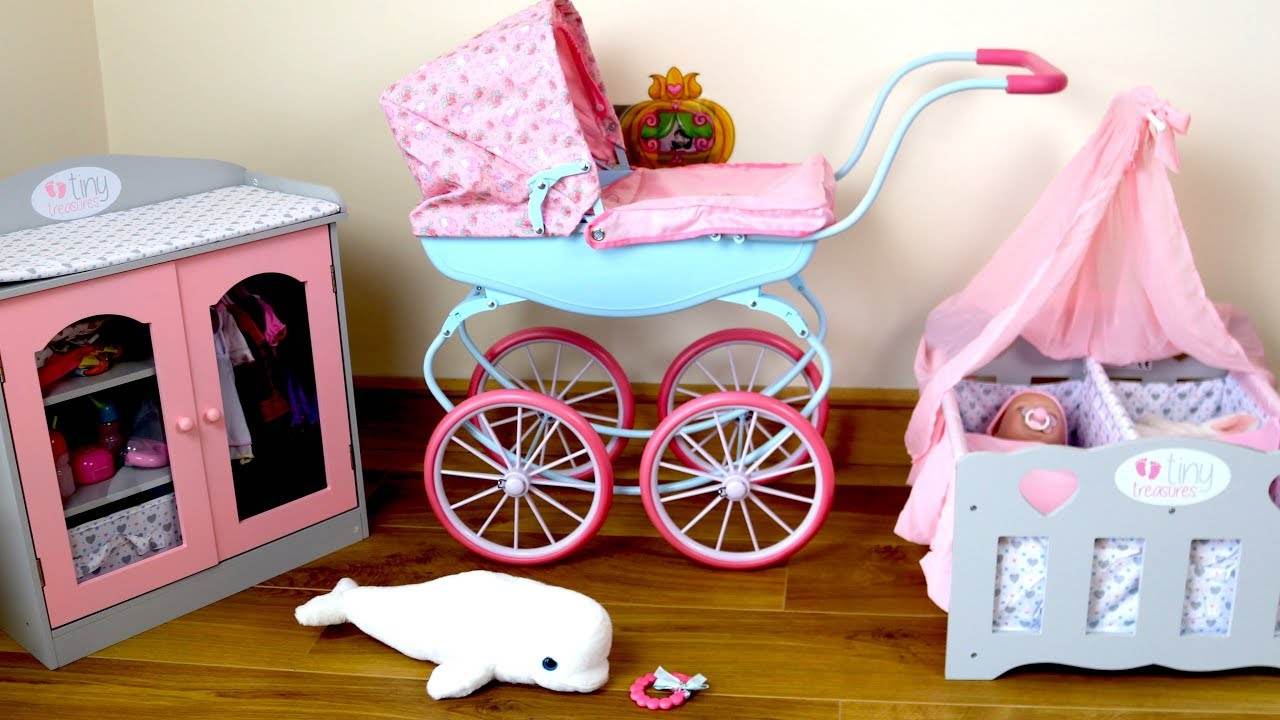 Baby Annabell Carriage Pram Baby Dolls Bedroom Morning Routine - Anna bell baby wardrobe