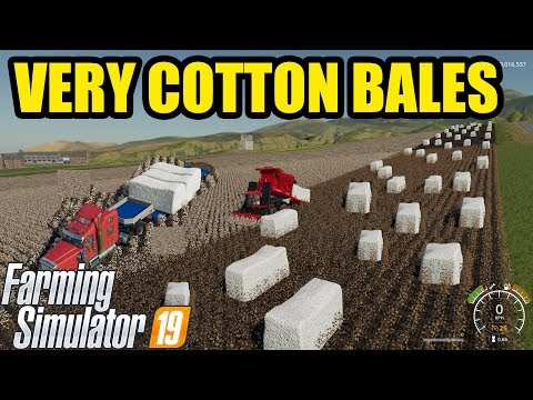 Farming Simulator 19 | VERY MUCH GIANT COTTON BALES : Alternative Transporting
