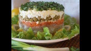 Салат с печенью трески . Ольга Матвей