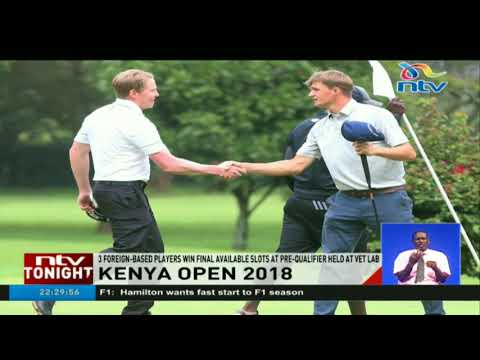 Foreign based players win final available slots at the Kenya Open