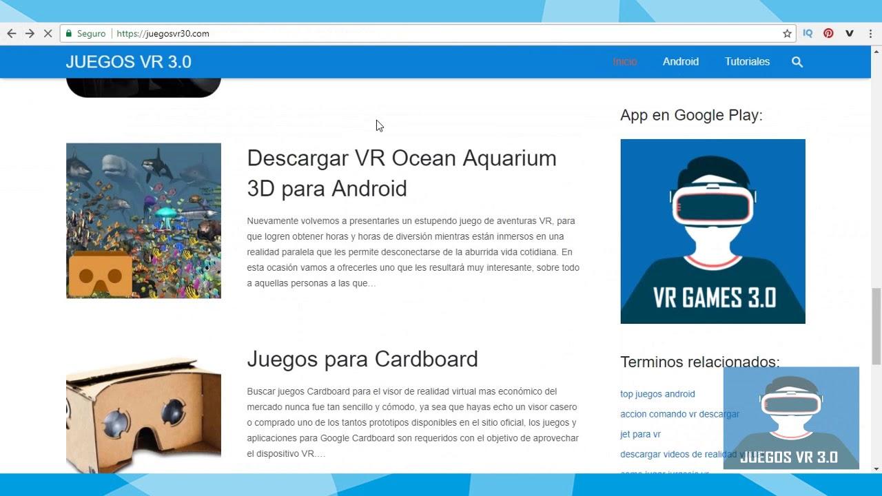 Como Descargar Apps Y Juegos De Realidad Virtual Android I