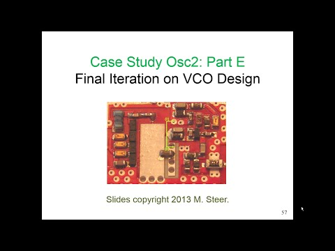 Design Of A C-Band Voltage-Controlled Oscillator, Part E
