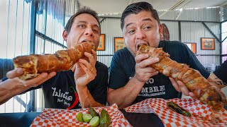 Giant BACON WRAPPED BURRITO!! 🥓 Insane Mexican Street Food!!