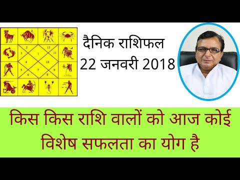 Daily Rashifal 22 January 2018 - किस किस राशि वालों को आज कोई विशेष सफलता का योग है
