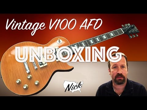 Vintage V100 AFD PA RA DI 53 Unboxing - Slash Paradise City Stylings! (not Gibson Les Paul)
