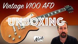 Vintage V100 AFD PA RA DI 53 Unboxing - Slash Paradise City Stylings! (not Gibson Les Paul)