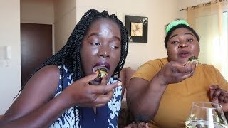 FIRST TIME EATING CAMEROONIAN FOOD