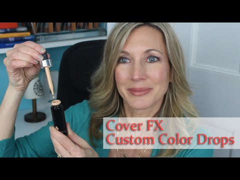 Cover FX Custom Cover Drops Review + Demo - 동영상