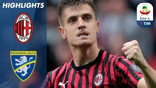 Milan 2-0 Frosinone | Il Milan resta in corsa Champions e ora aspetta l'Atalanta! | Serie A