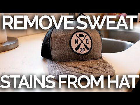 How to clean sweat stains from your hat
