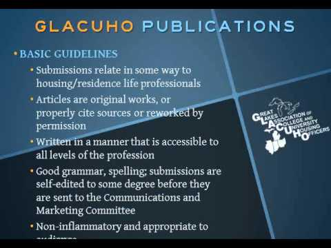 Webinar:  Writing for Publication