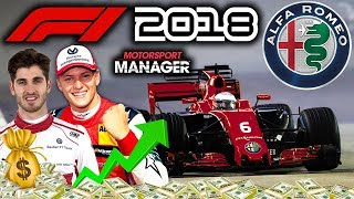 NEW SPONSOR! RACE GOES DOWN TO THE LAST FEW LAPS! - F1 Alfa Romeo Manager Career Part 87