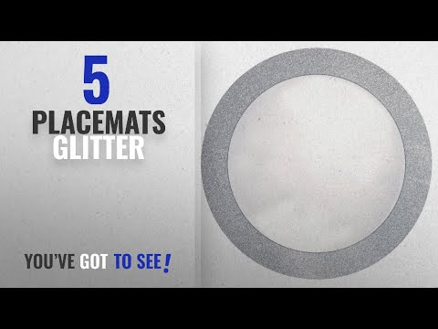 """Best Placemats Glitter [2018]: Creative Converting Glitz Silver Round Paper Placemats with 2"""""""