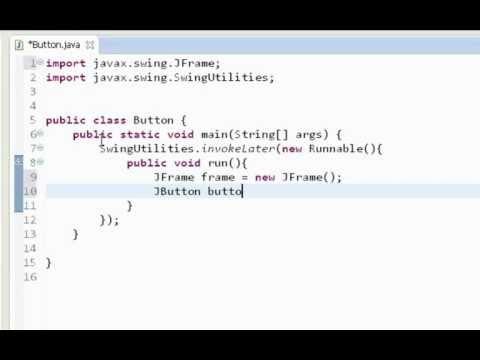 Java swing GUI tutorial #9: JButton