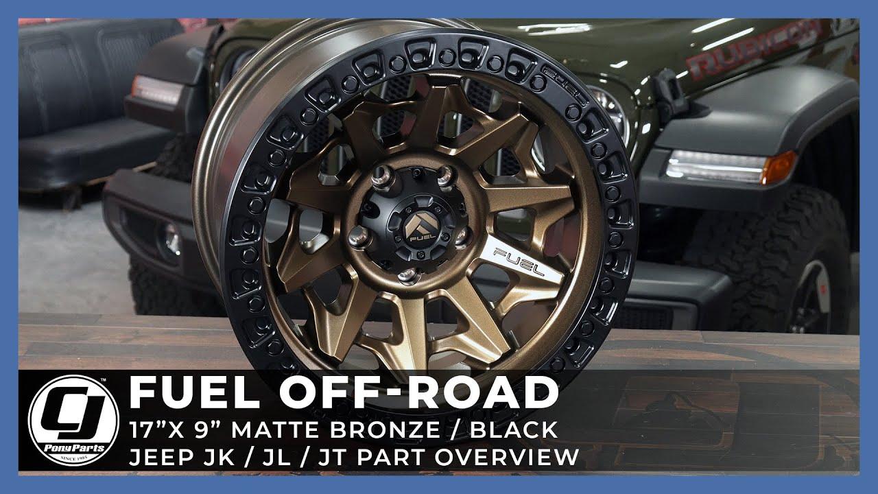 2018-2021 Jeep JL & Jeep Gladiator | Fuel Off-Road Cover Matte Bronze Wheel
