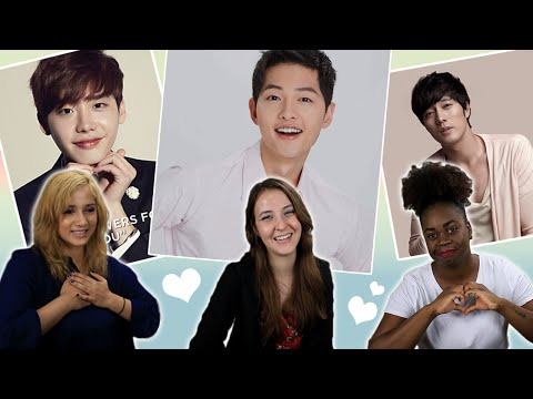 American Girls React to Korean Male Celebrities #2
