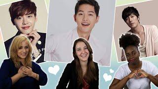 Video American Girls React to Korean Male Celebrities #2 download MP3, 3GP, MP4, WEBM, AVI, FLV April 2018