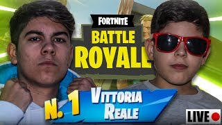 THE SEARCH of real VITTORY WITH MY FRATELLO! Live Fortnite ITA