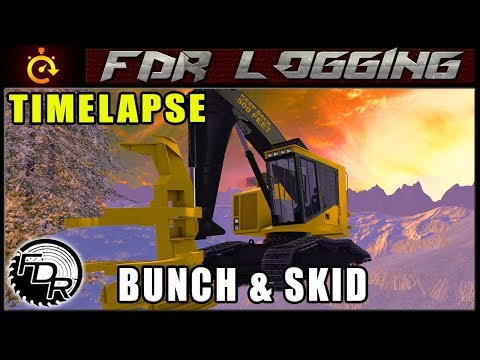 Winter Bunch & Skid | Farming Simulator 2017 | Timelapse Logging thumbnail