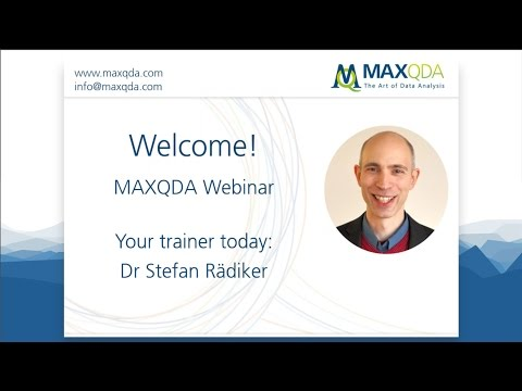 Introduction to Statistical Analysis with MAXQDA Analytics Pro