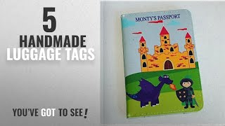 Top 10 Handmade Luggage Tags [2018]: Children's personalised dragons and knight passport cover