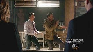 "Castle 7x19 ""Habeas Corpse"" Esposito Ryan Dance Interrogation Room Castle Beckett Watching"