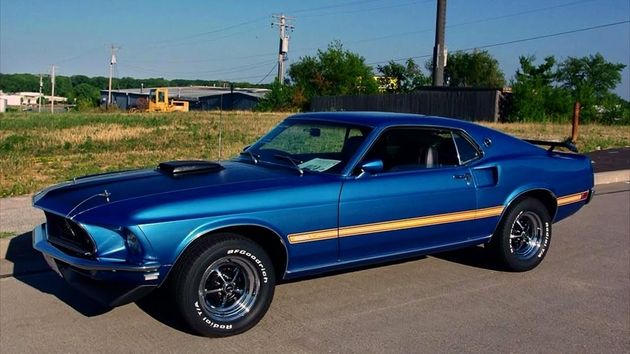 Cobra Jet Mustang >> 1969 Ford Mustang Mach One 428 Cobra Jet Shaker Hood Factory Air - YouTube