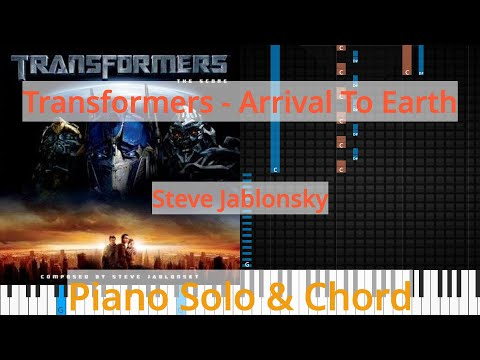 🎹Solo & Chord, Transformers - Arrival To Earth, Steve Jablonsky, Synthesia Piano