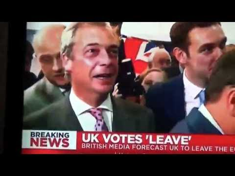 Britain OUT. Britain votes to leave the European Union.A victory for Democracy