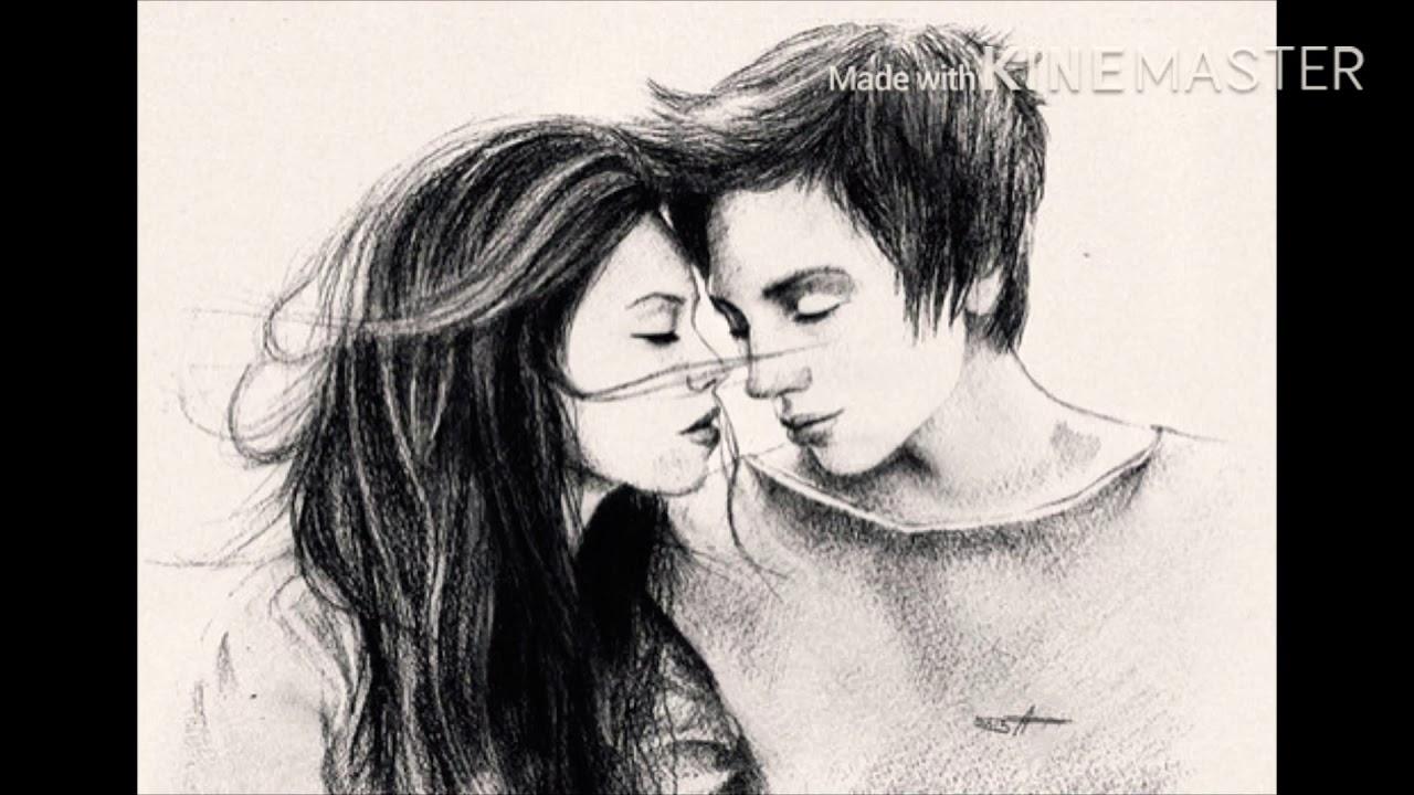Рисунки парень и девушка с надписями