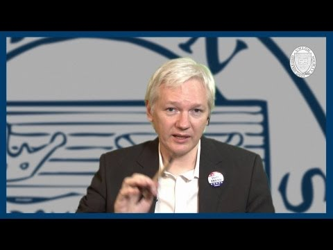 Status As A Fugitive | Julian Assange | Oxford Union