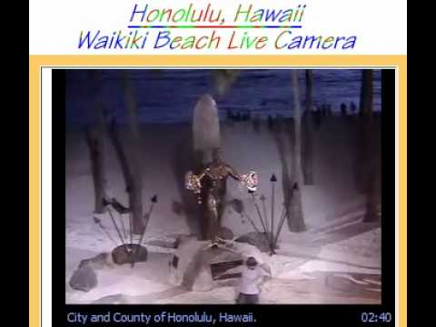 Webcam Dancer At Waikiki Beach Hawaii Live Camera Youtube