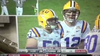 LSU vs Florida 2010 AMAZING finish