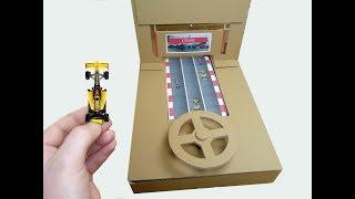How To Make Car Racing FORMULA 1 ( F1 ) Desktop Game from Cardboard