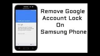 Bypass Google Account Verification Samsung J7 (NEW WAY