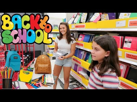 BACK TO SCHOOL SHOPPING WITH EMMA AND ELLIE! SCHOOL SUPPLIES HAUL!