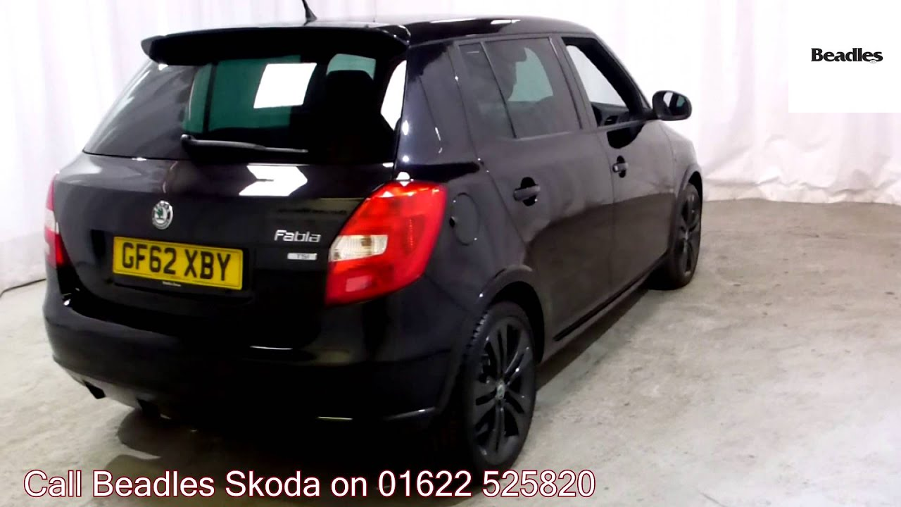 beadles black pearlescent 2012 skoda fabia monte carlo youtube. Black Bedroom Furniture Sets. Home Design Ideas