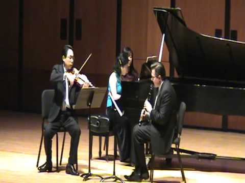 Darius Milhaud: Suite, Mvt. 2, Live at University of Houston Moores School of Music (Trio Solari)