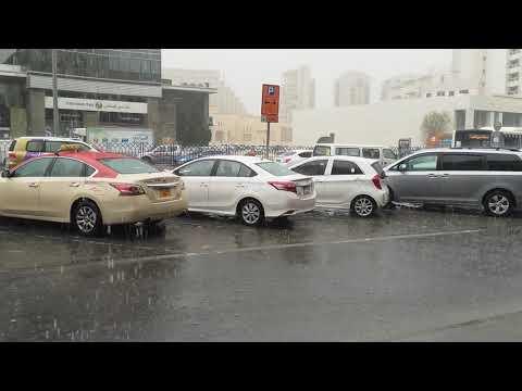 Rain Dubai Clock Tower