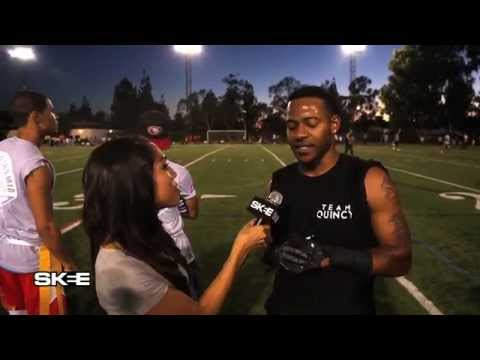 Quincy & Chris Brown: Charity Flag Football Event