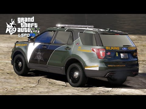 GTA 5 LSPDFR Blaine County Sheriff Office   EUP K9 0 4 2