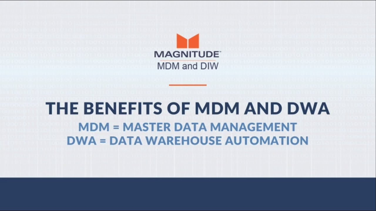 The benefits of MDM and DWA