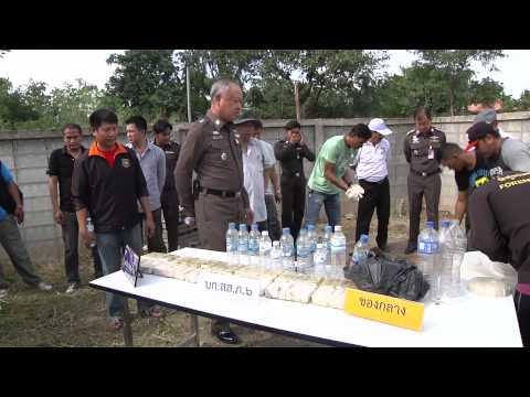 ตำรวจภูธรภาค 6 ขยายผลจับเครือข่ายยาบ้าลาวพบยาบ้าฝังดิน 72,000 เม็ด