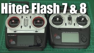 Hitec Flash 7 and Flash 8 radios (a quick look)