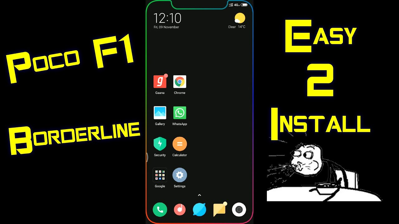 POCOPHONE F1 Borderline Live Wallpaper Effect Nov 2018