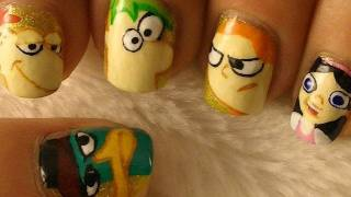 Phineas and Ferb Nail Art