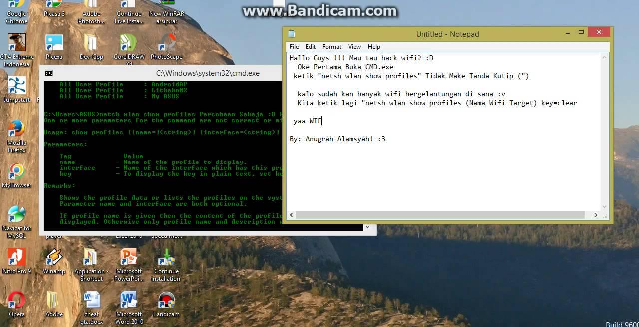 Cara HACK wifi Menggunakan CMD.exe ll How To Hack Wifi With CMD.exe ...